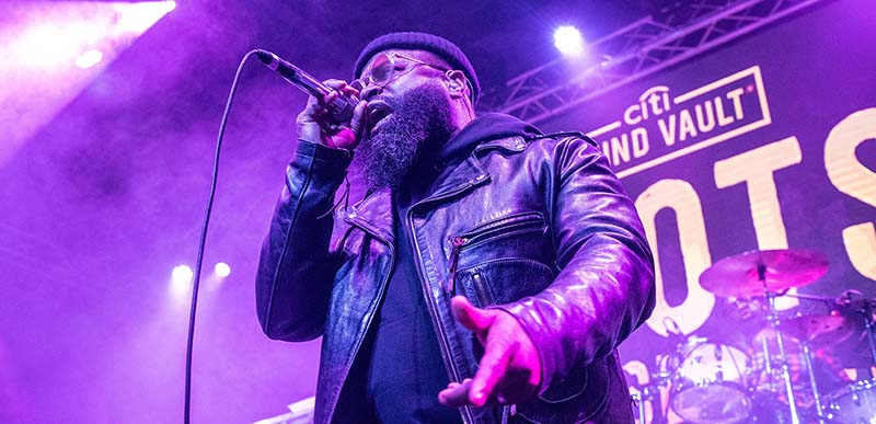 Black Thought of the Roots performing on stage at Citi Sound Vault concert