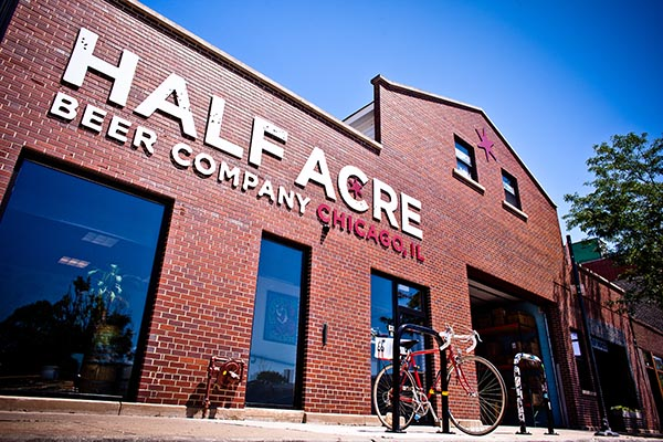Exterior of Half Acre Beer Company in Chicago