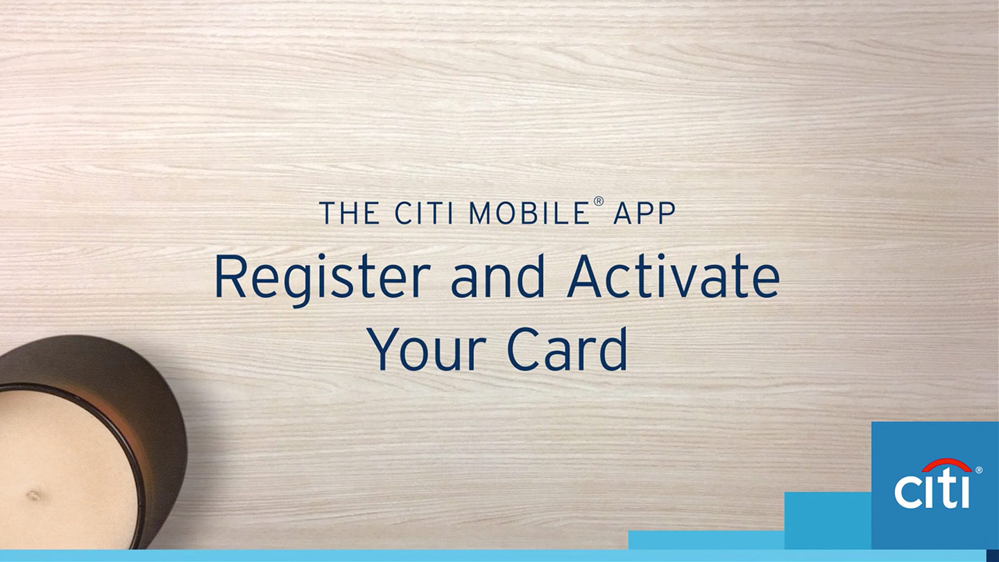 register and activate your card